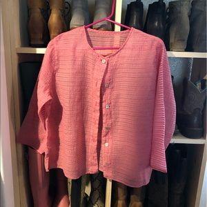 Light weight pink 3/4 sleeve jacket